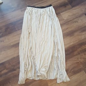 Urban Outfitters Olive Maxi Skirt w/ Side Slits
